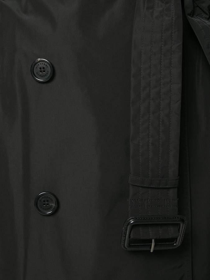 burberry detachable hood taffeta trench coat damen. Black Bedroom Furniture Sets. Home Design Ideas
