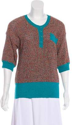 Missoni Short Sleeve Knit Sweater