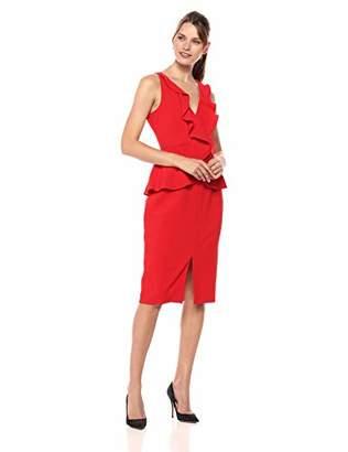 Eliza J Women's V-Neck Ruffle Sheath Dress