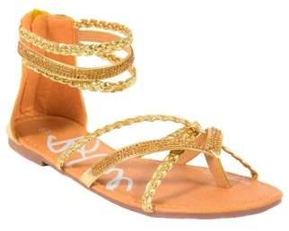 BLUE SUEDE SHOES Women's Yatt Pearl Molded Footbed Open Toe Lounging Slide Sandal