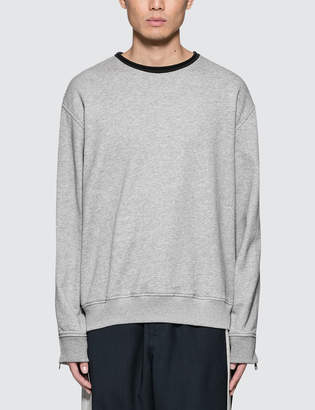 3.1 Phillip Lim Roll Edge Sweatshirt with Zip Detail
