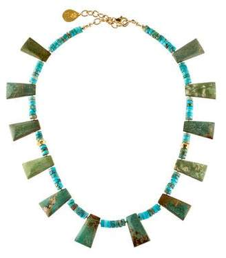 Devon Leigh Turquoise Bead Strand Necklace