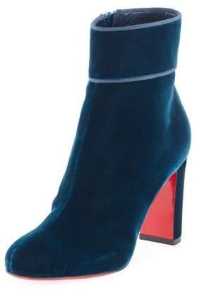 Christian Louboutin Moulamax Velvet 85mm Red Sole Boot