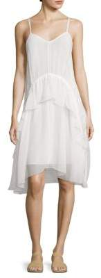 Elizabeth and James Cynthia V-Neck Ruffled Dress