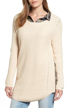 Women's Caslon Rib Knit Cotton Tunic $69 thestylecure.com