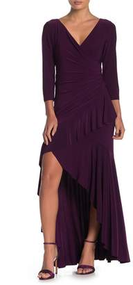 Marina Ruffled Long Slim Dress