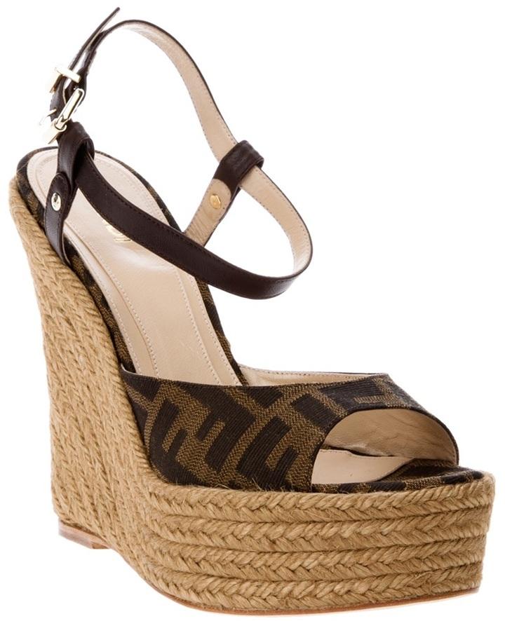 Fendi 'Zucca' wedge sandal