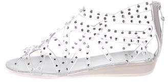 Stuart Weitzman Embellished Jelly Sandals