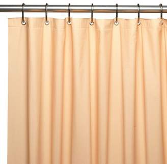 Carnation Home Fashions Hotel Collection, 8 Gauge Vinyl Shower Curtain Liner w/ Metal Grommets in Peach