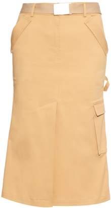 Rosie Assoulin Cotton-twill midi skirt