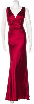 Carmen Marc Valvo Satin Evening Dress $245 thestylecure.com