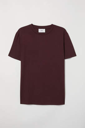 H&M Cotton and Silk T-shirt - Red