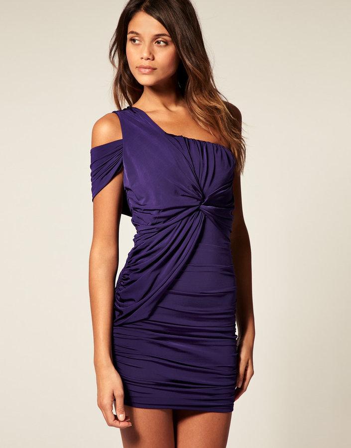 ASOS One Shoulder Dress with Cut Out shoulder