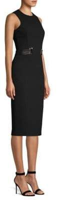 Michael Kors Stretch Boucle Belted Sheath Dress