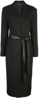 Narciso Rodriguez stitched belt coat