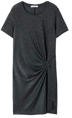 Violeta BY MANGO Bow metallic dress