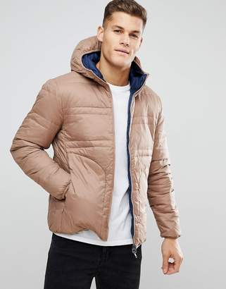 Benetton Reversible Down Padded Jacket With Hood