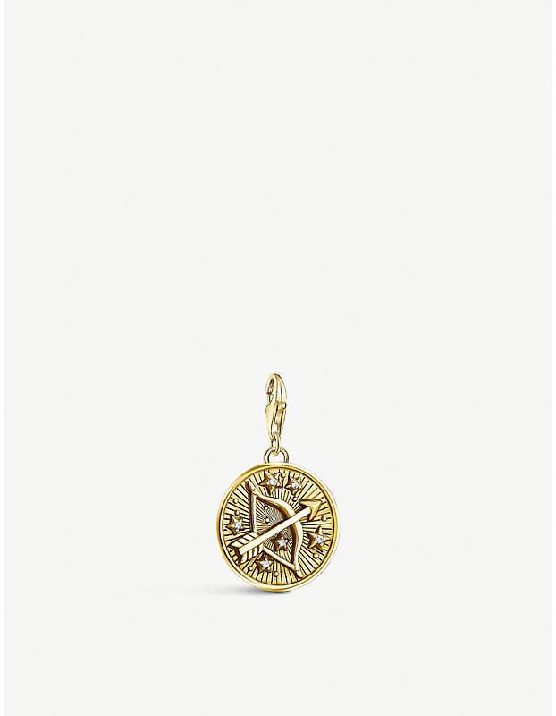 Sagittarius 18ct yellow gold-plated zodiac charm