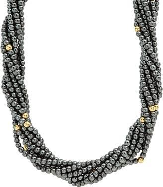Lagos Caviar Icon Hematite Necklace