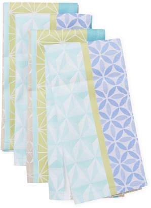 Garnier Thiebaut Garnier-Thiebaut Set Of 4 Geometric Cotton Napkins