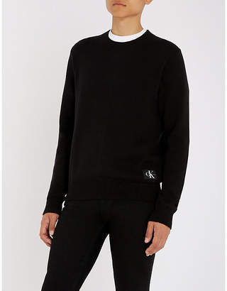 CK Calvin Klein Logo-patch cotton jumper