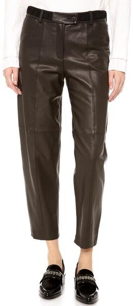 Thakoon Full Leather Pants