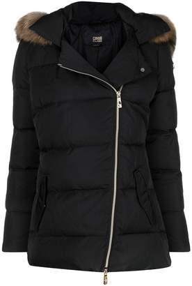 Class Roberto Cavalli fur trim padded coat