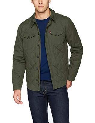 Levi's Men's Cotton Diamond Quilted Shirt Jacket