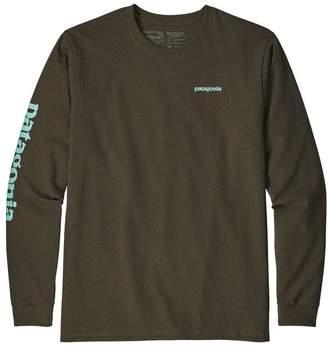Patagonia Men's Long-Sleeved Text Logo Cotton/Poly Responsibili-Tee®