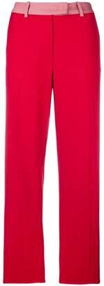 Pinko contrast waistband trousers