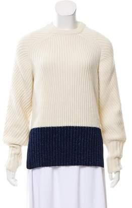 Cédric Charlier Paneled Rib Knit Sweater