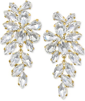 Badgley Mischka Crystal Arch Drop Earrings