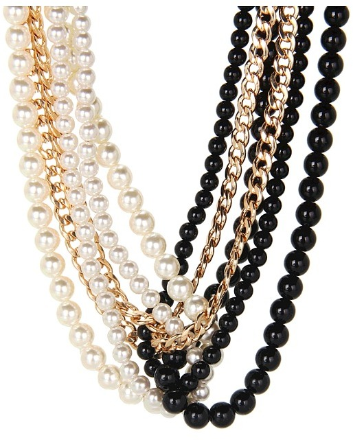 Brigitte Bailey Multiple Strand Beaded Necklace (Black) - Jewelry
