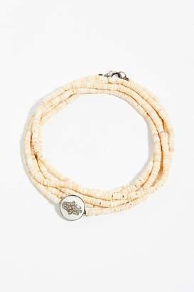 Feathered Soul Diamond Heishi Shell Bracelet
