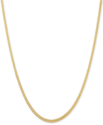 "Italian Gold Foxtail 22"" Chain Necklace (1-1/3mm) in 14k Gold"