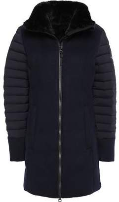 Kjus Bernina Quilted Shell-paneled Wool-felt Coat