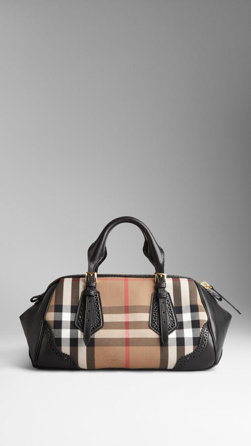 Burberry The Blaze in Brogue Detail House Check