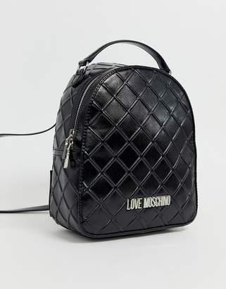 Love Moschino embossed metallic backpack