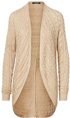 Ralph Lauren Cable-Knit Open-Front Cardigan $125 thestylecure.com