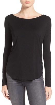 Women's Paige 'Bess' Stretch Jersey Boatneck Tee $90 thestylecure.com