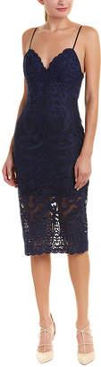Bardot Embroidered Lace Sheath Dress