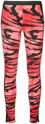 Kru striped thermal leggings