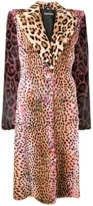 Tom Ford multi-animal print coat