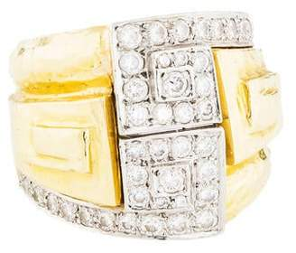 David Webb 1.08ctw Diamond Maze Ring