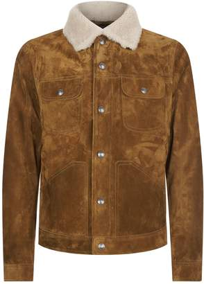 Tom Ford Suede Shearling Collar Jacket