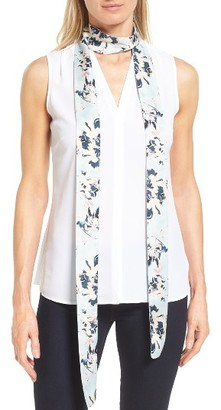 Women's Halogen Blossoms Skinny Scarf $25 thestylecure.com