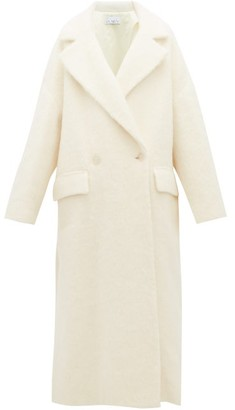 Raey Double Breasted Wool Blend Blanket Coat - Womens - White