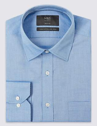 Marks and Spencer 2in Longer Non-Iron Regular Fit Oxford Shirt