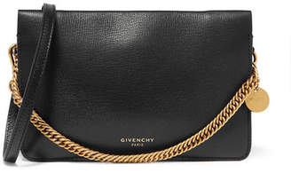 Givenchy Gv Textured-leather And Suede Shoulder Bag - Black