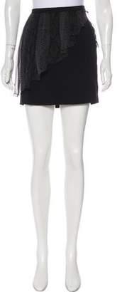 Christopher Kane Silk-Accented Mini Skirt